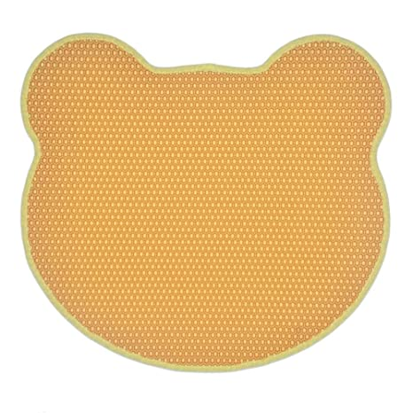 Handfly Estera de Arena para Gatos,65x60cm Diseño de Panal Impermeable de Doble Capa Caja