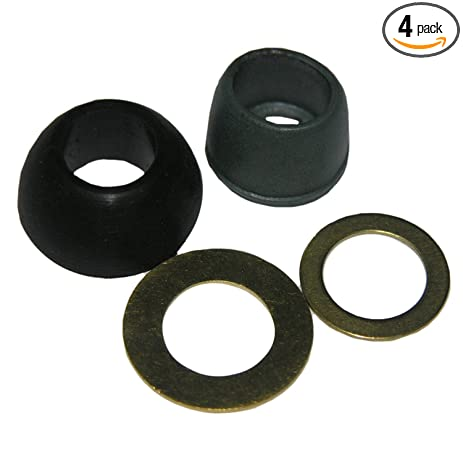 LASCO 02-2235 7/16-Inch Rubber Cone Washer And Brass Ring Kit ...