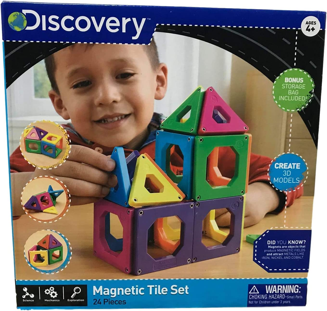 Qty Discount New NO BOX Discovery Kids Magnet Tiles Building Set 24 Piece Toy