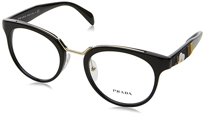 Amazon.com: anteojos Prada PR 3 UV 1 AB1O1 negro: Clothing