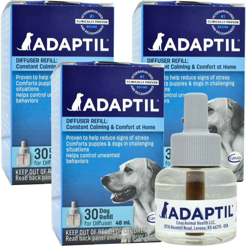 3 PACK ADAPTIL (D.A.P.) Dog Appeasing Pheromone REFILL (144mL)