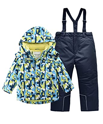 387efffcf Amazon.com  Hiheart Boys Snowsuit Winter Ski Jacket and Pants Set ...
