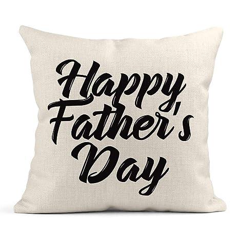 Kinhevao Cojín Letras Feliz Día del Padre Texto Que se Puede ...
