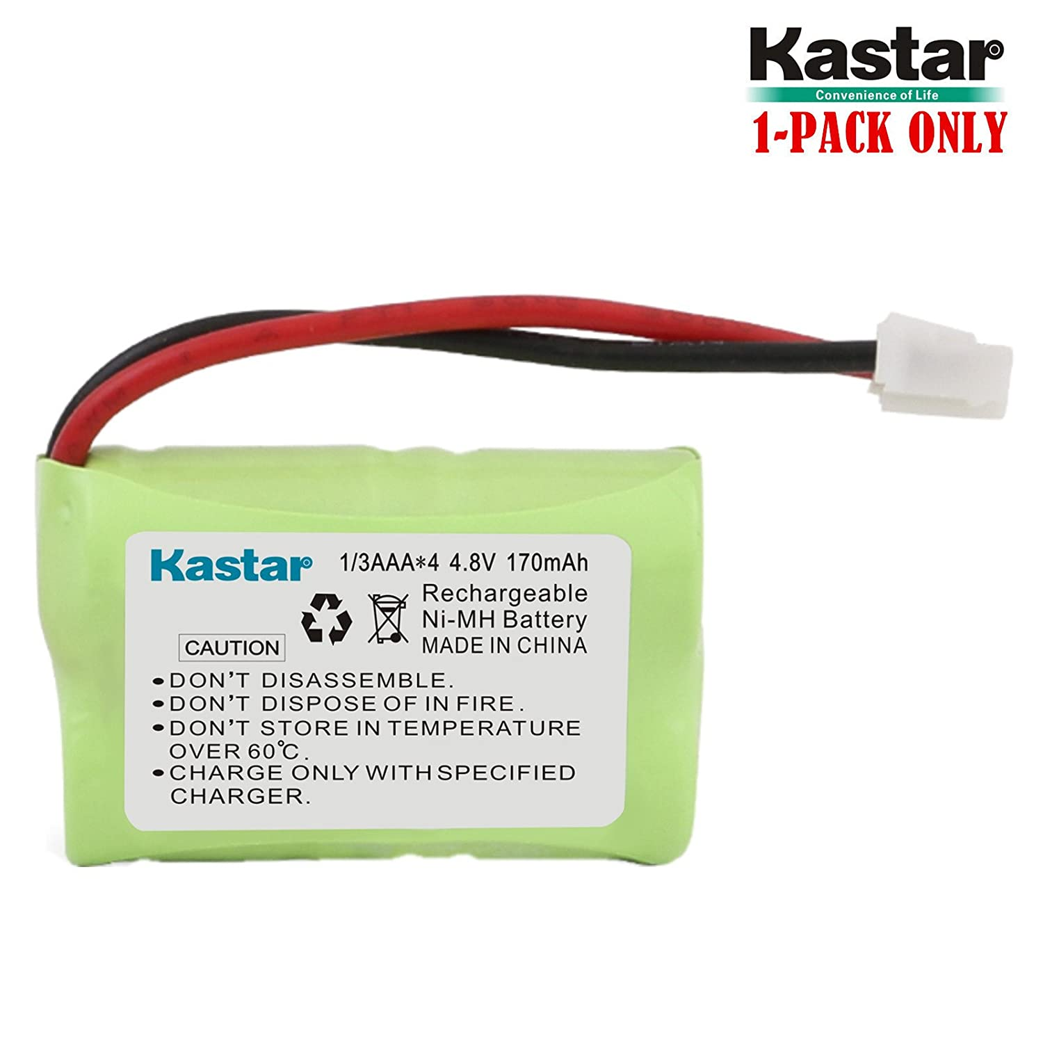 Kastar 170mAh Ni-MH Rechargeable Battery for SportDog FR200 PDT00-12470 RFA-417 PAC00-12159 FR-200P Collar Receiver plus Coaster MH-1B-1//3AAA4.8V-JP. SD-800 PetSafe Yard and Park Remote Dog Trainer SD-400 SAC00-15724