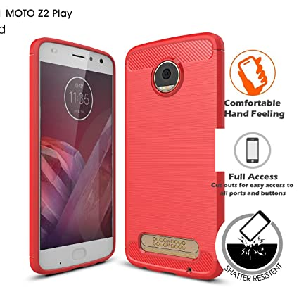 buy popular 39b9f 86db5 Amazon.com: LIKESEA Rugged Armor Motorola Moto Z2 Play Case with ...