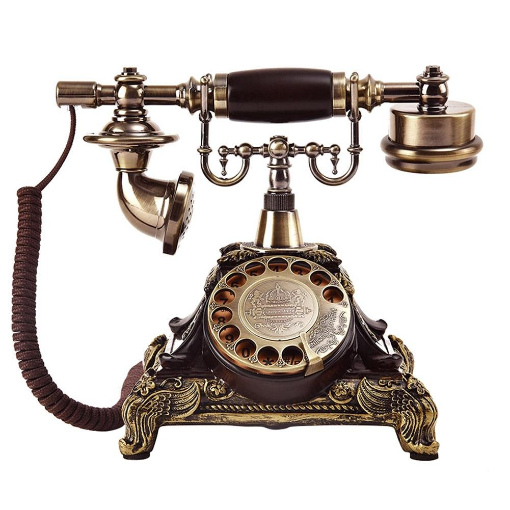 ビンテージロータリーダイヤルアンティーク電話w/リダイヤル固定電話(304-3)(コーヒー) niomou B07PVG5MD8 スーパーウェイト、304-4銅、スーパーウェイト  スーパーウェイト、304-4銅、スーパーウェイト