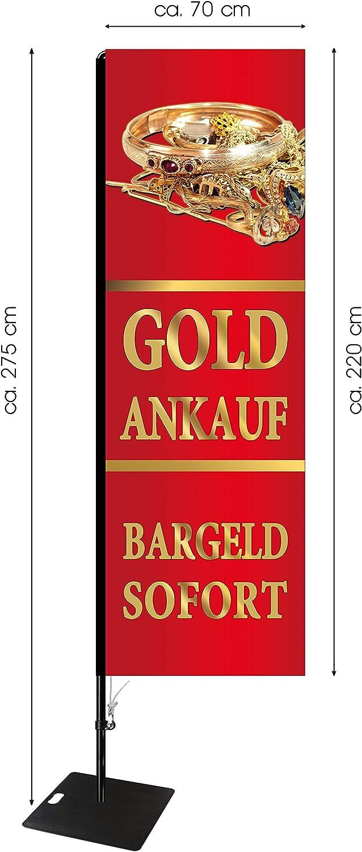 Beachflag Goldankauf 275 cm hoch SEF516 ca