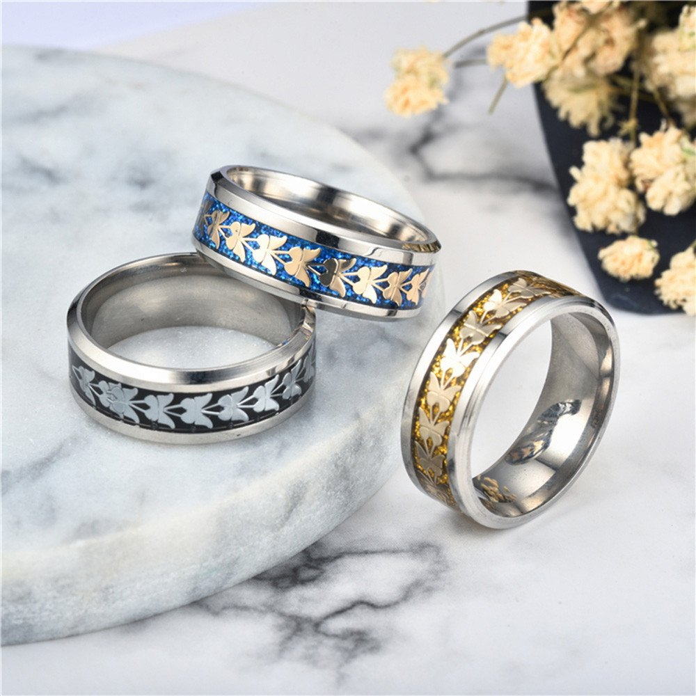 Gbell Unisex Fashion Bohemian Butterfly Rings - Vintage Silver Stack Hip Hop Rings Above Knuckle Rings for Women Men Birthday Christmas Valentine's Day Present,Size 6-12 by Gbell (Image #4)