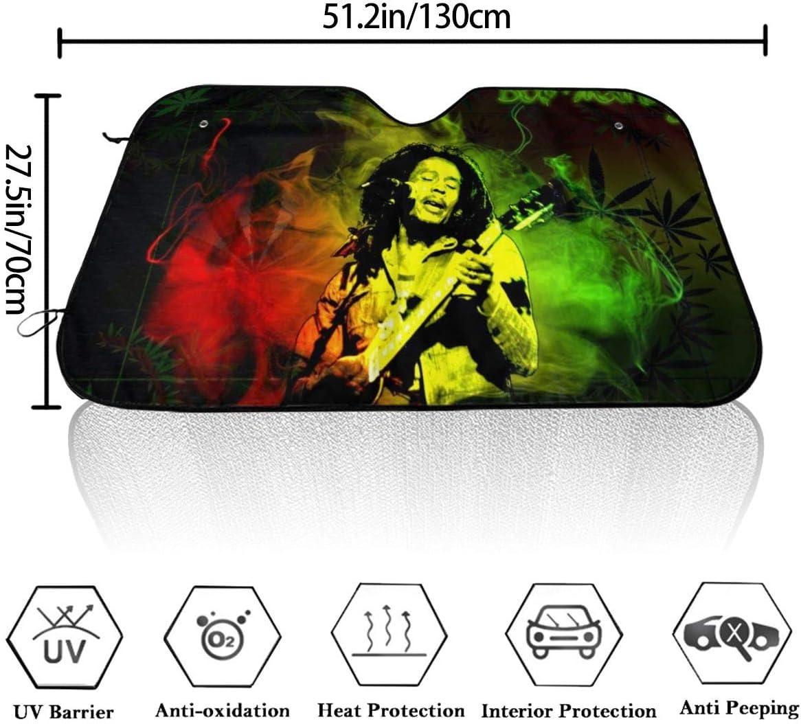 51.2 X 27.5 Bob Marley Car Windshield Sun Shade Auto Sunshade UV Sun and Heat Reflector