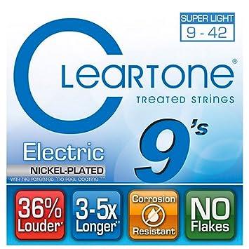 Cleartone 9409 - Cuerdas de guitarra eléctrica, calibre 9-42: Amazon.es: Instrumentos musicales