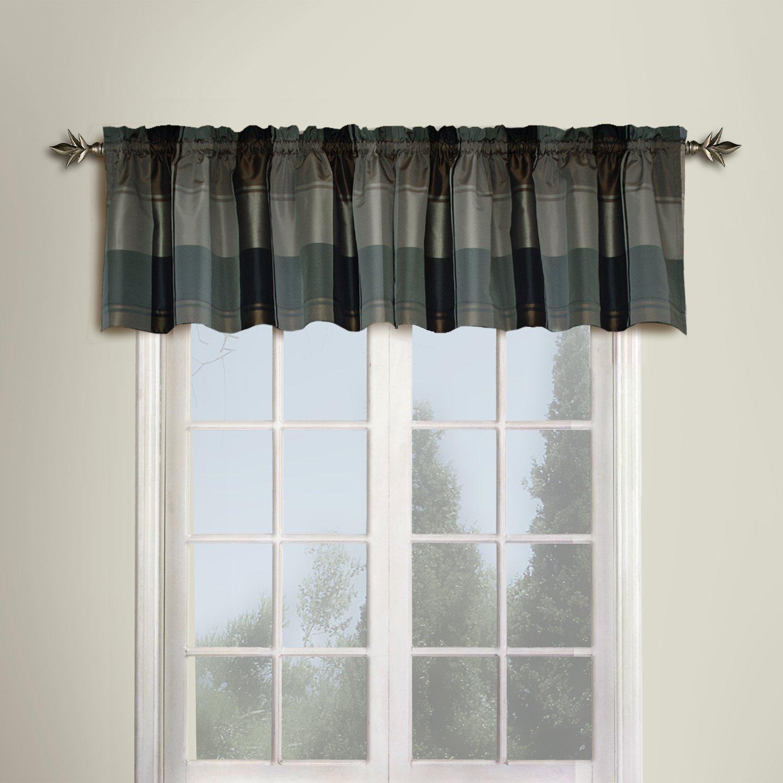 Amazon.com: United Curtain Plaid Straight Valance, 54 By 18 Inch, Burgundy:  Home U0026 Kitchen