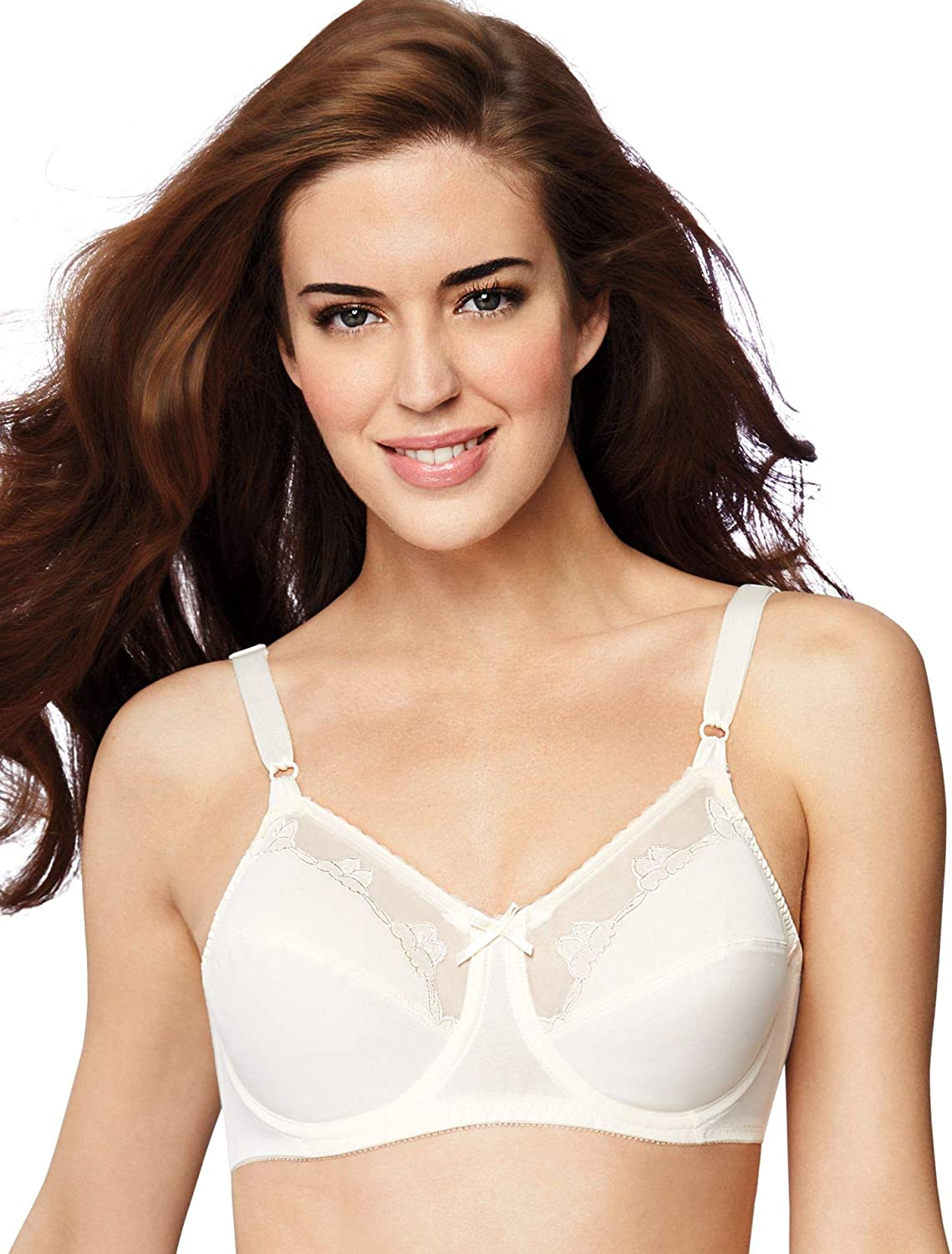 Bali Womens Flower Underwire Bra White