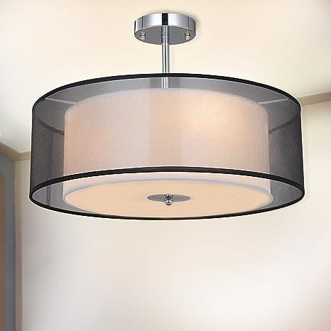 Amazon Com Ceiling Light Spakrsor Modern Fabric Pendant Light