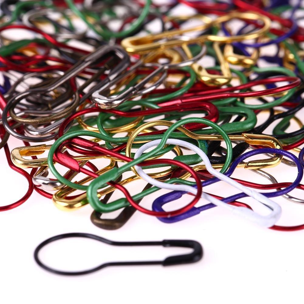 everpert 100pcs//Pack pins calabaza forma Metal Clips marcador de punto de tejer Tag pins