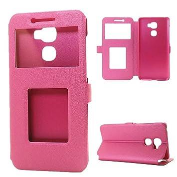 LeEco Le Pro 3 Funda, Le Pro 3 Funda, Gift_Source [ Rosa ] Funda Libro PU Leather Cuero Suave Impresión Cover Carcasa Con Flip Case TPU Gel ...