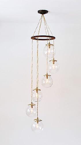 Amazon Com Spiral Bubble Chandelier Six Hanging Glass 6