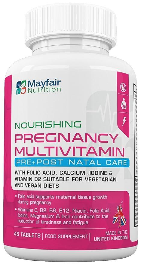 Compuesto multivitamínico para el embarazo | Fórmula de calidad superior para futuras mamás | Completo con