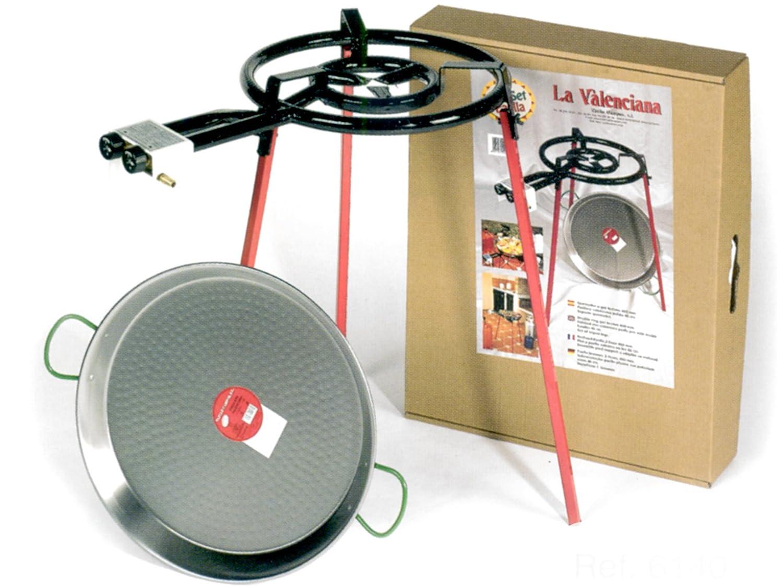 VAELLO Fornellone mit Stativ mit Paella Elektrische Küchengeräte
