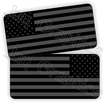 REFLECTIVE Black Ops American Flag Hard Hat Helmet Decals Stickers Flags AR15