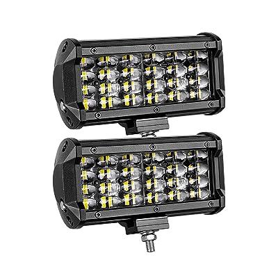 LED Flood Light Bar, Moso LED 6 inch Quad Row LED Pods OSRAM LED Driving Light Fog Light Off Road Lighting Work Light for Truck Jeep ATV UTV SUV Marine Boat, 3 Years Warranty: Automotive [5Bkhe0915102]