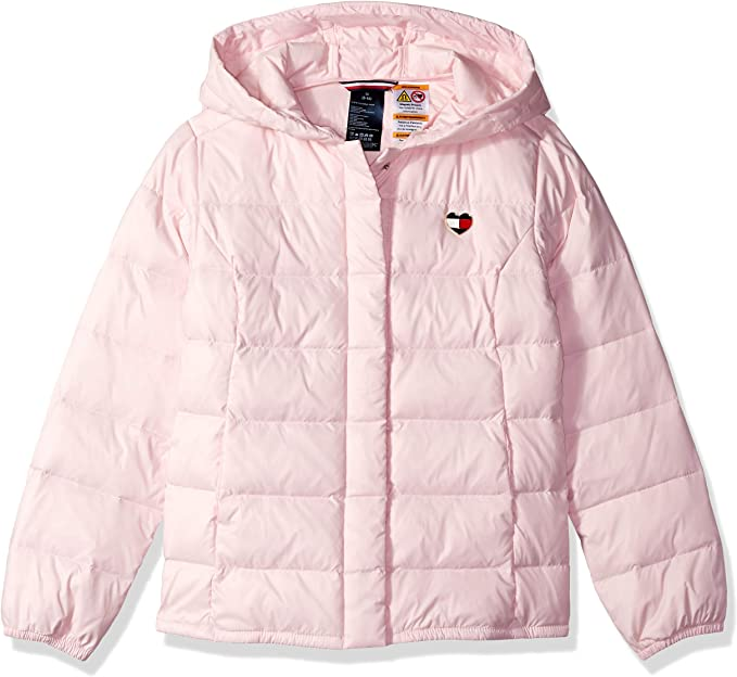 Tommy Hilfiger Girls Big Adaptive Jacket with Magnetic Closure