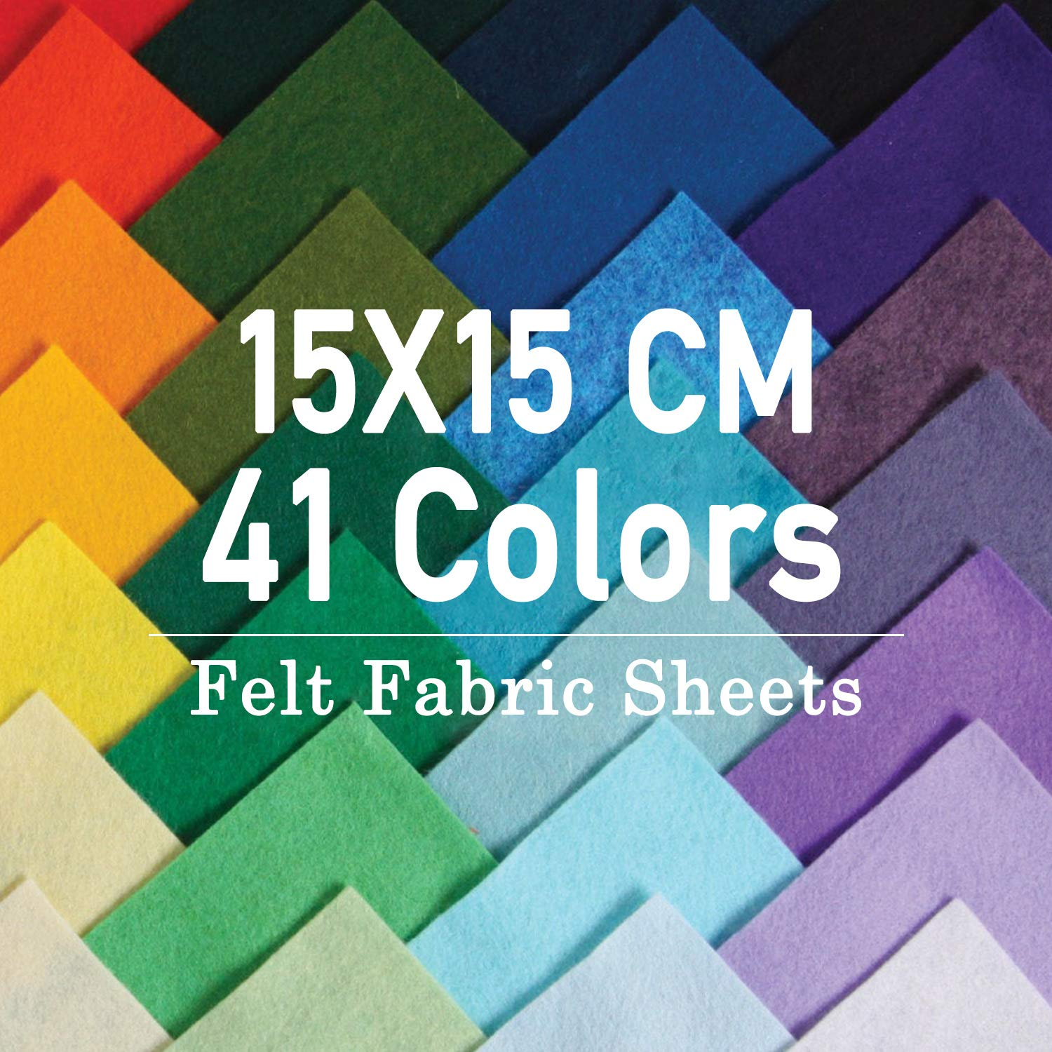 Felt and Cushions Felt Fabric Used for DIY Crafts Christmas Ornament Crafts for Children with Bobbin Thread Three Sizes 6 Inch Felt Sheets SOLED/Ì 41 Colors 6 15 * 15cm