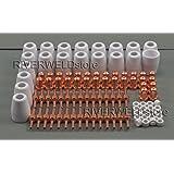 PT-31 LG-40 decoupe plasma Electrode buse de coupe étendue Consommables Accessoire CUT50D CUT-50 CUT-40 CUT40D CT-312, 100pcs