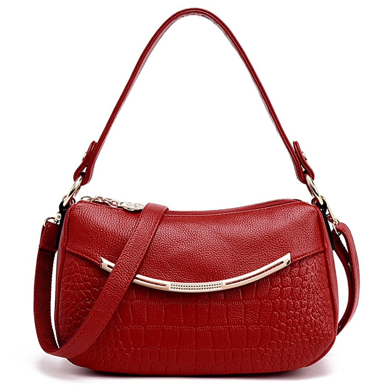 YAGELAIS Ladies Soft Leather Elegent Shopping Purses Crossbody Shoulder Bag Luxury Wallet Handbag