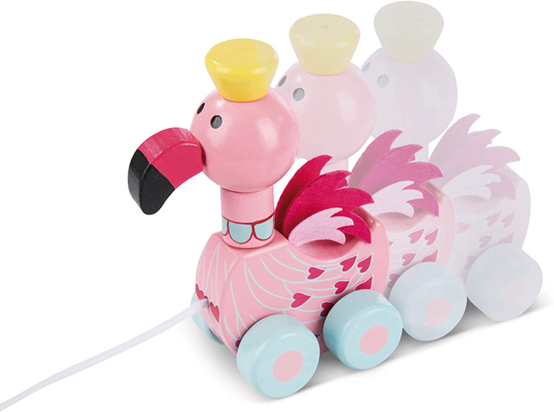 Flamingo Pull Along Orange Tree Toys