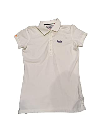 Superdry -Classic Pique Polo GS6EH209 -Polo Manga Corta Mujer ...