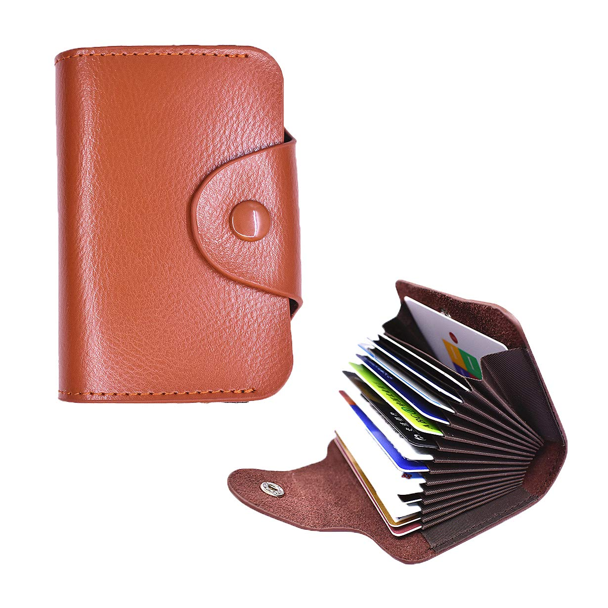 Laimi Duo Unisex Slim Thin Wallet Leather RFID Security