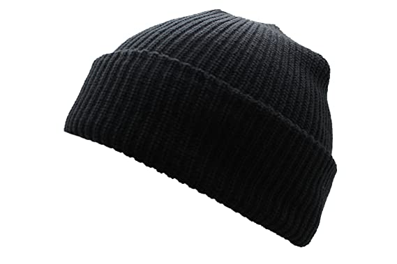 a642e3ea79c Mil-Tec Roll Up Watch Cap Knited Winter Beanie Hat (Black)  Amazon ...