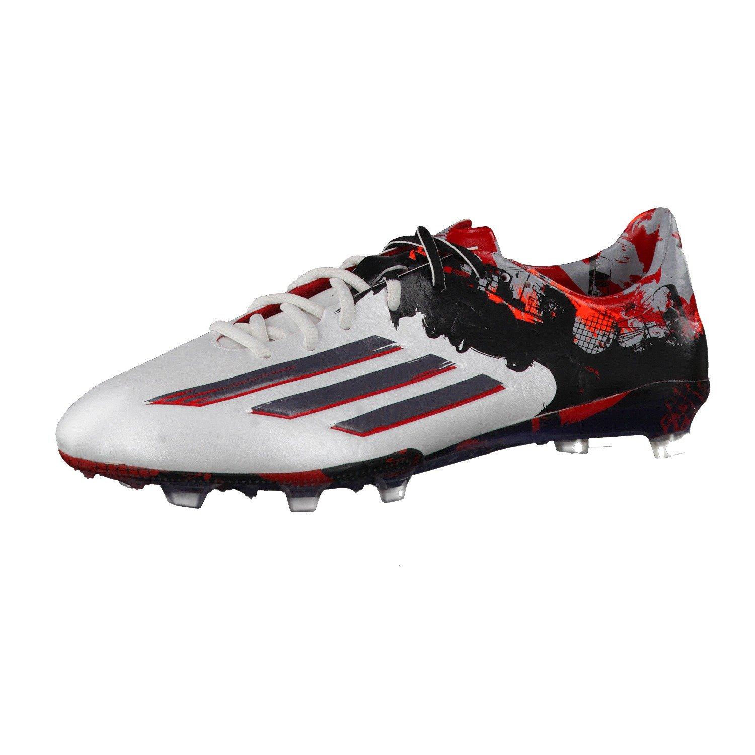 adidas Messi 10.1 FG Mens Football Boots Soccer Cleats Firm Ground B00UTWXEZM 12 D(M) US White Granite Scarlet Red B23767