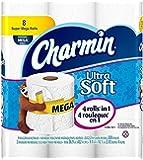 Charmin Ultra Soft Flushable Toilet Paper, 8 Mega Rolls - 352 Count Each (2,816 Sheets)