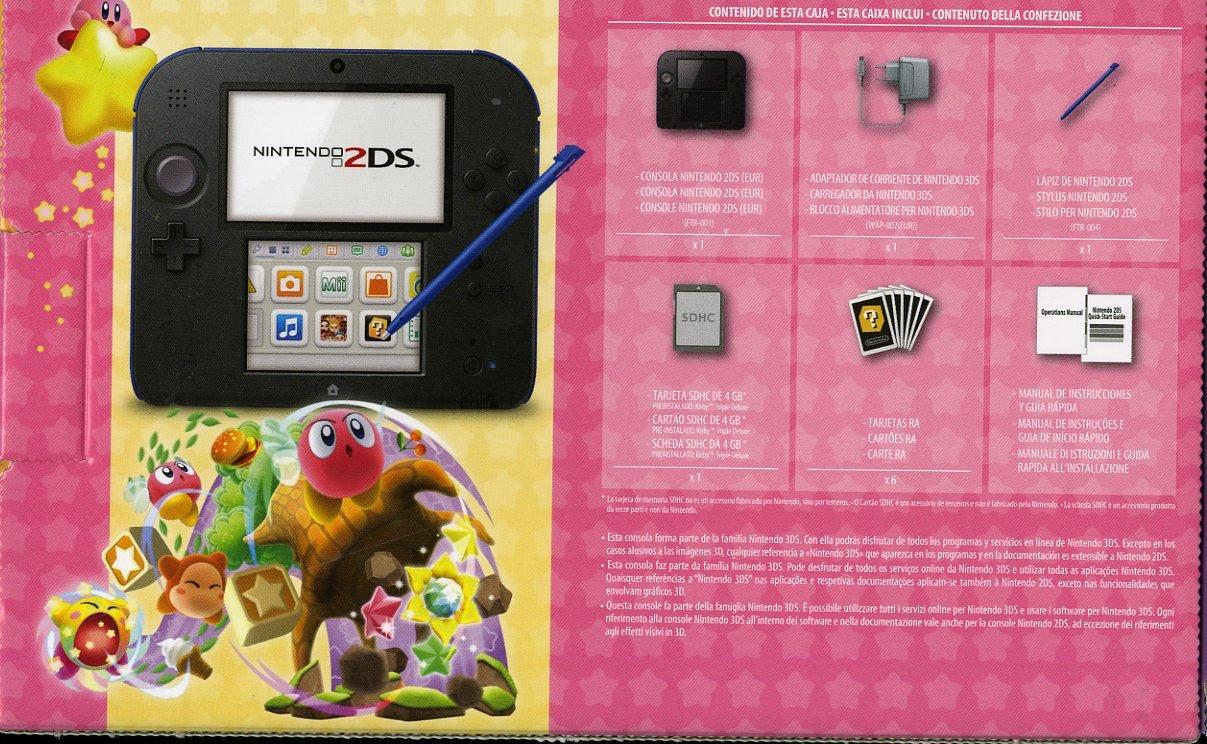 Nintendo 2Ds Nero+Blu + Kirby Triple D. [Importación Italiana ...