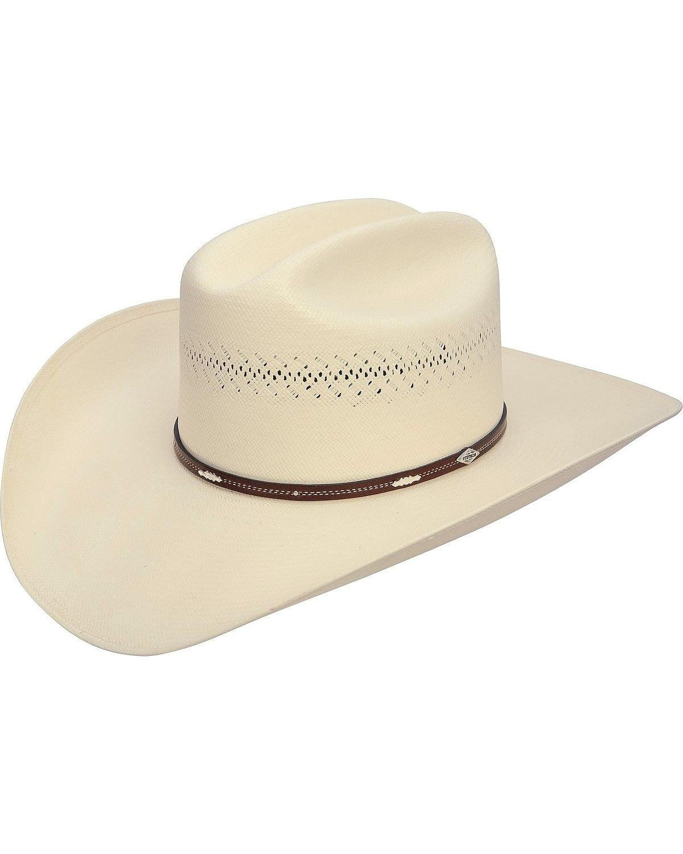 Stetson Men's Deming 10X Shantung Straw Cowboy Hat Natural 7 1/2