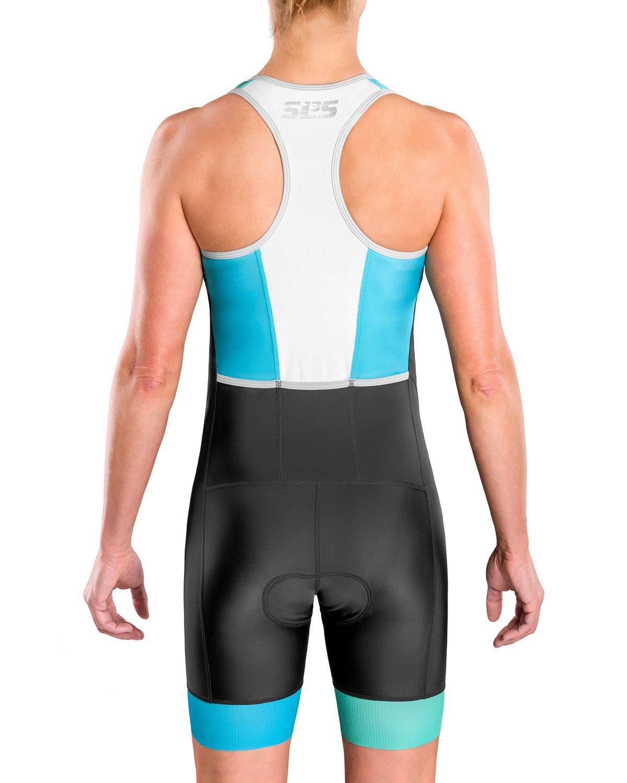 SLS3 Combinaison Triathlon Tri Triathlon Femme FRT Allemand Con/çu Coutures Anti-Friction Combinaisons de Triathlon de Poche Trisuit pour Femme
