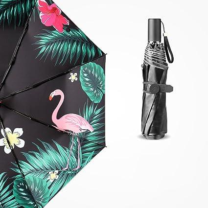 Paraguas resistente al viento – Flamenco Protector solar Protección UV paraguas hembra paraguas plegable doble uso
