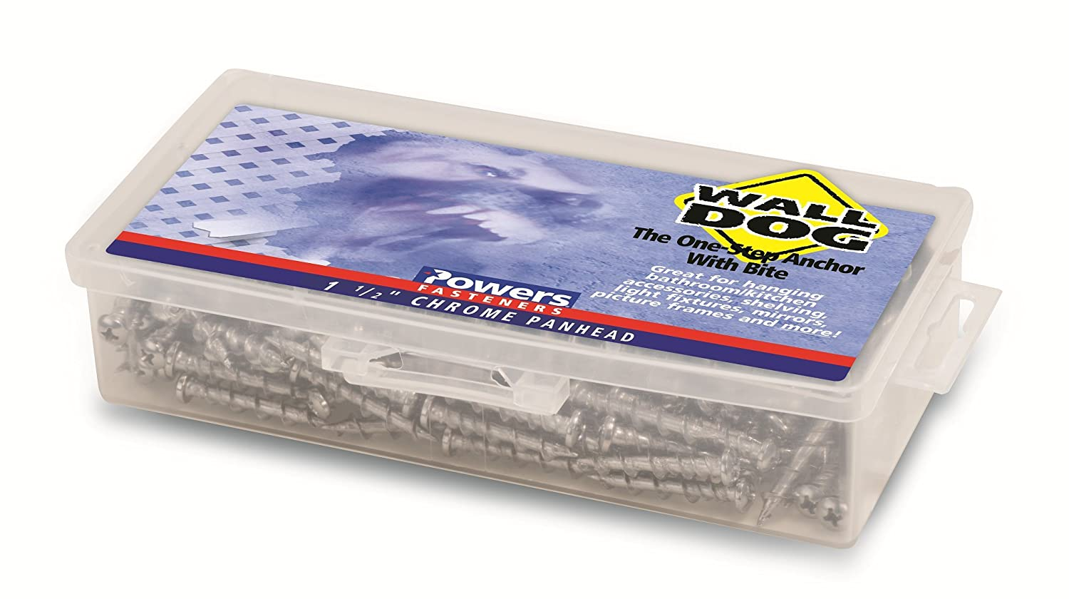 Powers Fastening Innovations 2314 Wall-Dog Kit-Includes Box, Phillips Screwdriver, 50 Zinc Oval Head Anchors, 100 Per Box Powers Fastening Innovations 02314 Wall-Dog Kit - Includes Kit Box