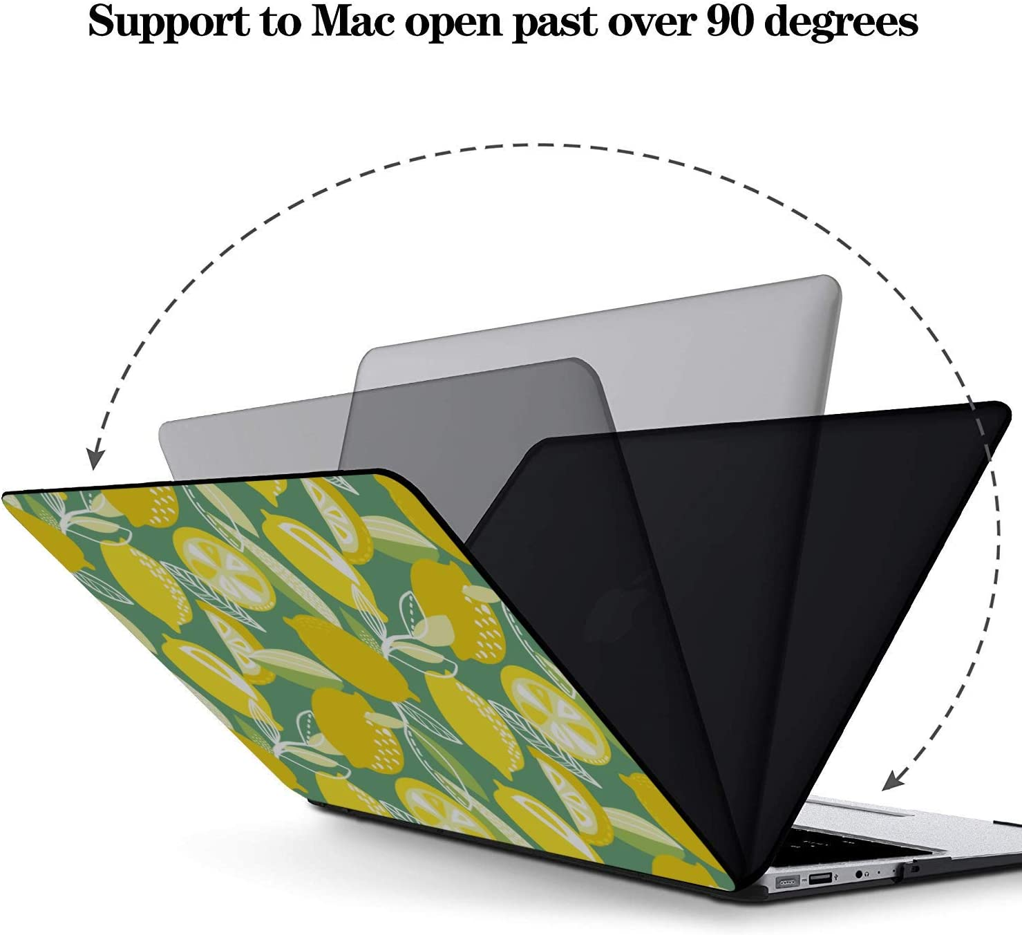 Mac Book Pro Cases Summer Sour Retro Cute Fruit Lemon Plastic Hard Shell Compatible Mac Air 11 Pro 13 15 MacBook Pro 13in Case Protection for MacBook 2016-2019 Version