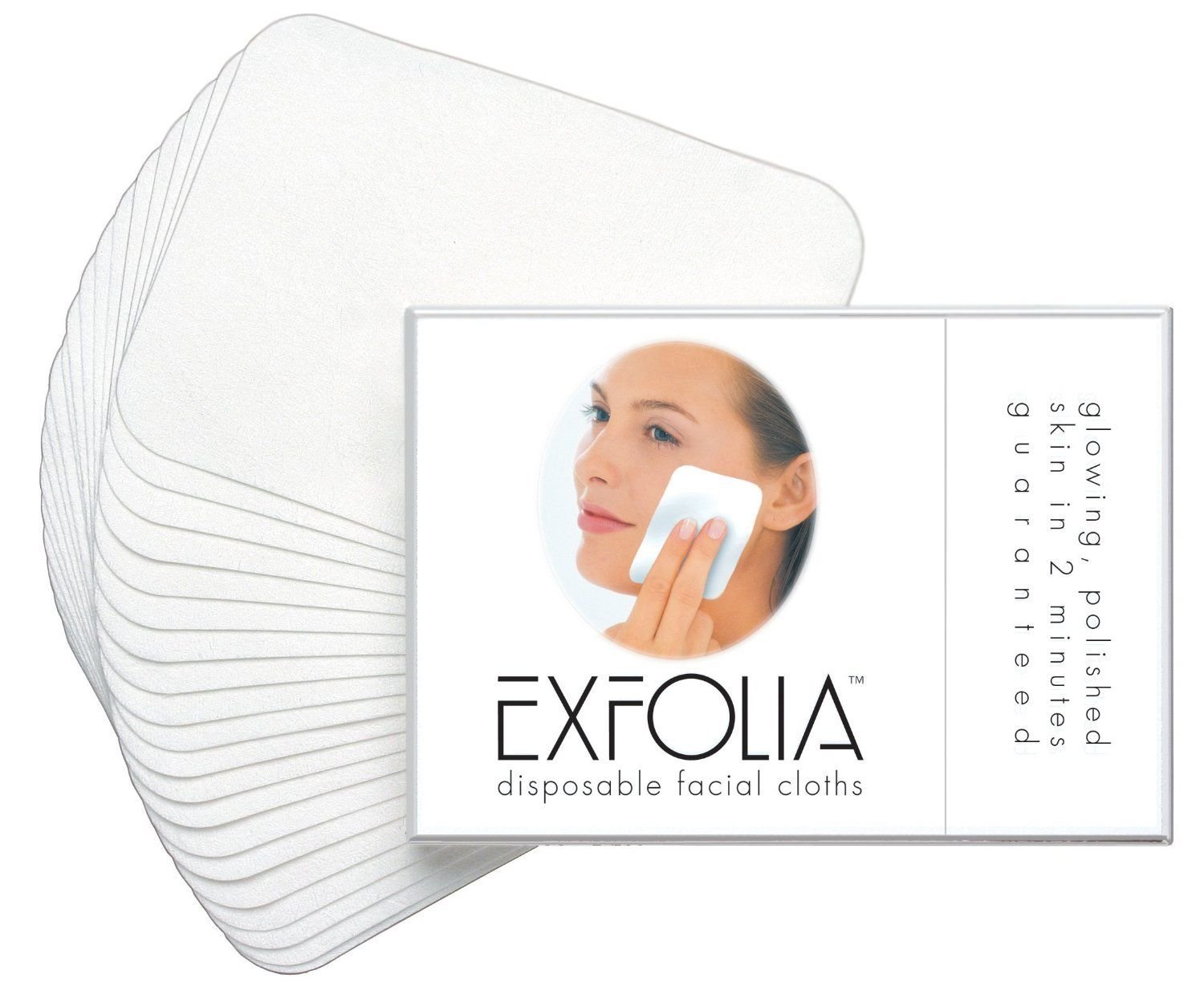 EXFOLIA Disposables Exfoliating Facial Cleansing Cloths, Pack of 20 Travel Pack