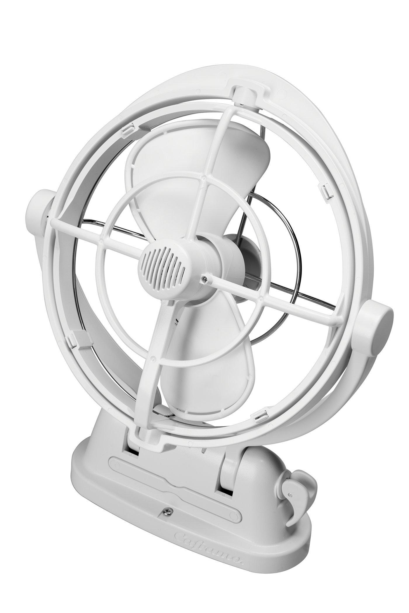 Caframo Sirocco II 12/24V Gimbal Fan, One Size, White by Caframo Sirocco (Image #1)