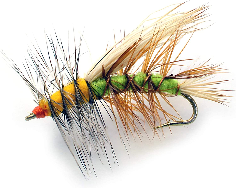 STIMULATOR ORANGE FLY FISHING DRY FLIES 6 x SIZE #16
