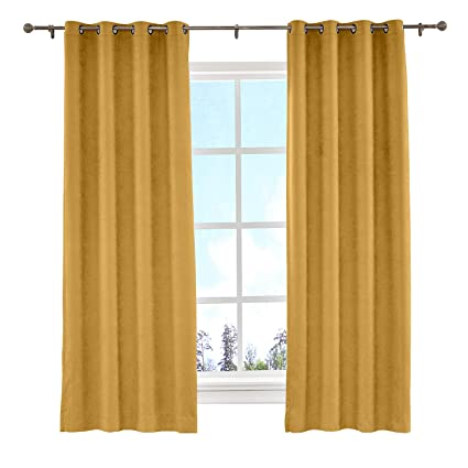 Cololeaf Room Darkening Grommet Curtains Energy Efficient Curtain Panel  Drapes For Living Room Bedroom Family Room