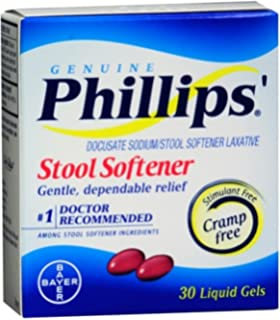 Phillips Stool Softener Liquid Gels 30 Liquid Gels (Pack of ...