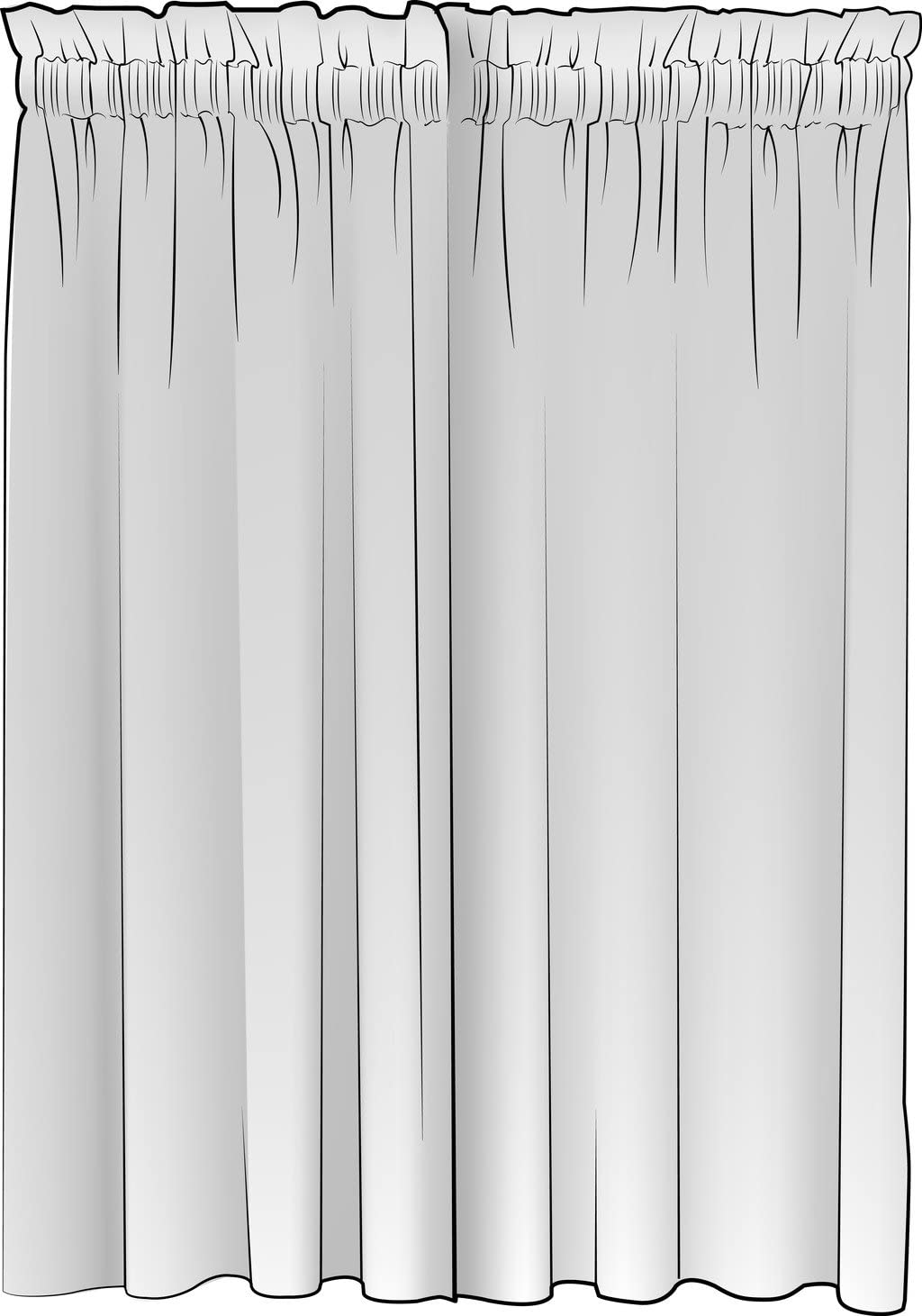 Close to Custom Linens French Country Brindle Gray Ticking Stripe Rod Pocket Curtain Panels 108 , Lined