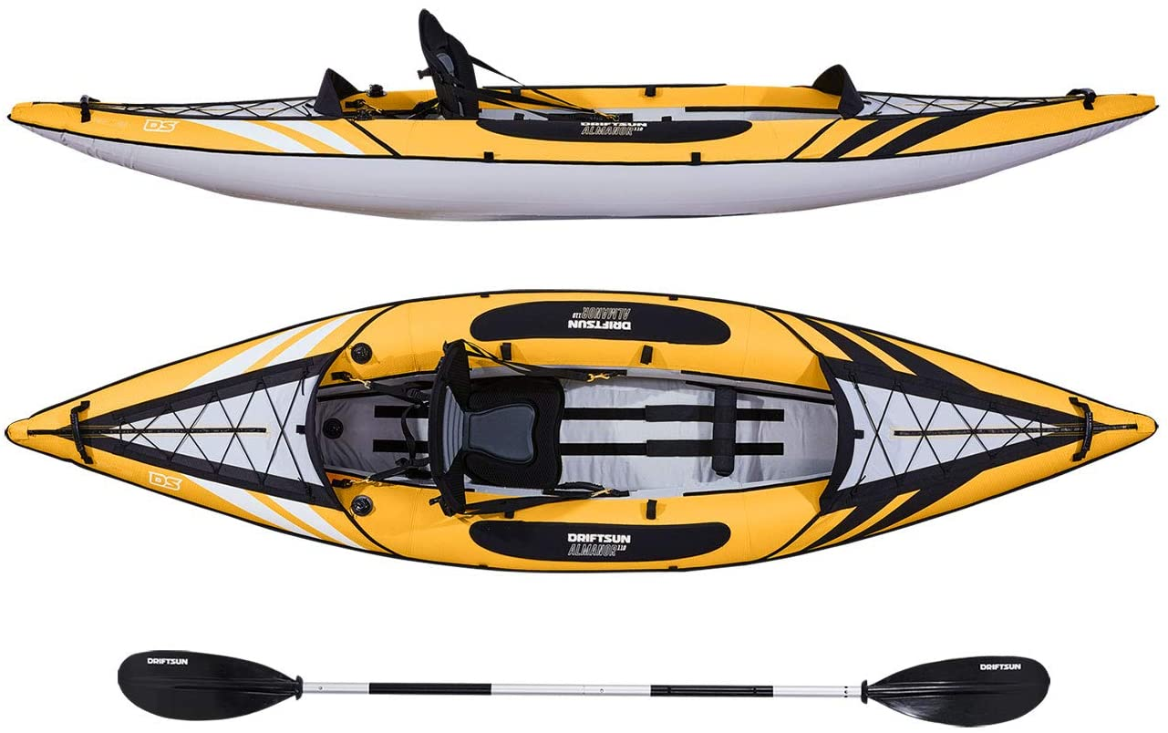 Driftsun Almanor Inflatable Kayak with Padded High Back Seats + Paddles