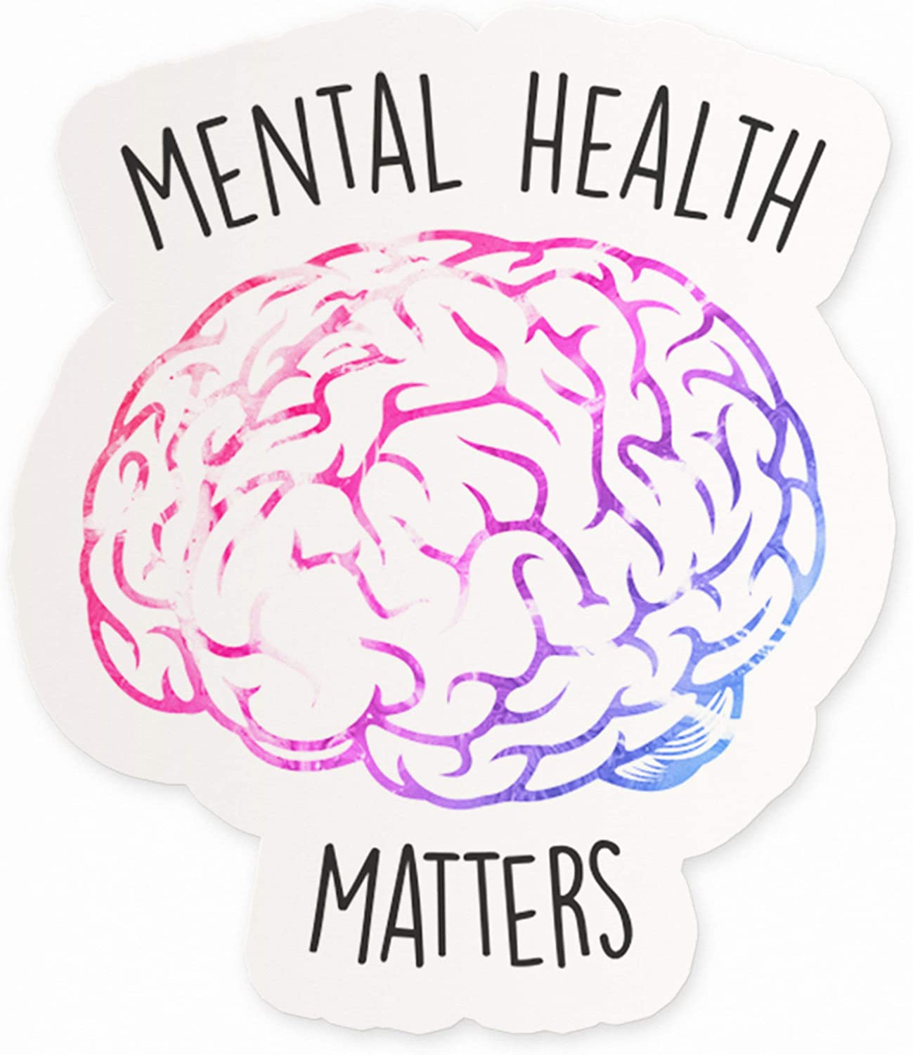 "Mental Health Matters Vinyl Sticker | 4"" Laptop Sticker Quotes 
