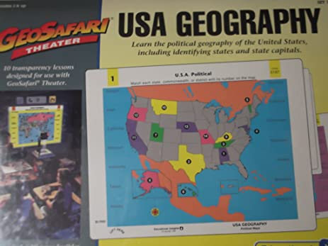 Amazon.com: Geosafari Theater - USA Geography Political Maps: Toys ...