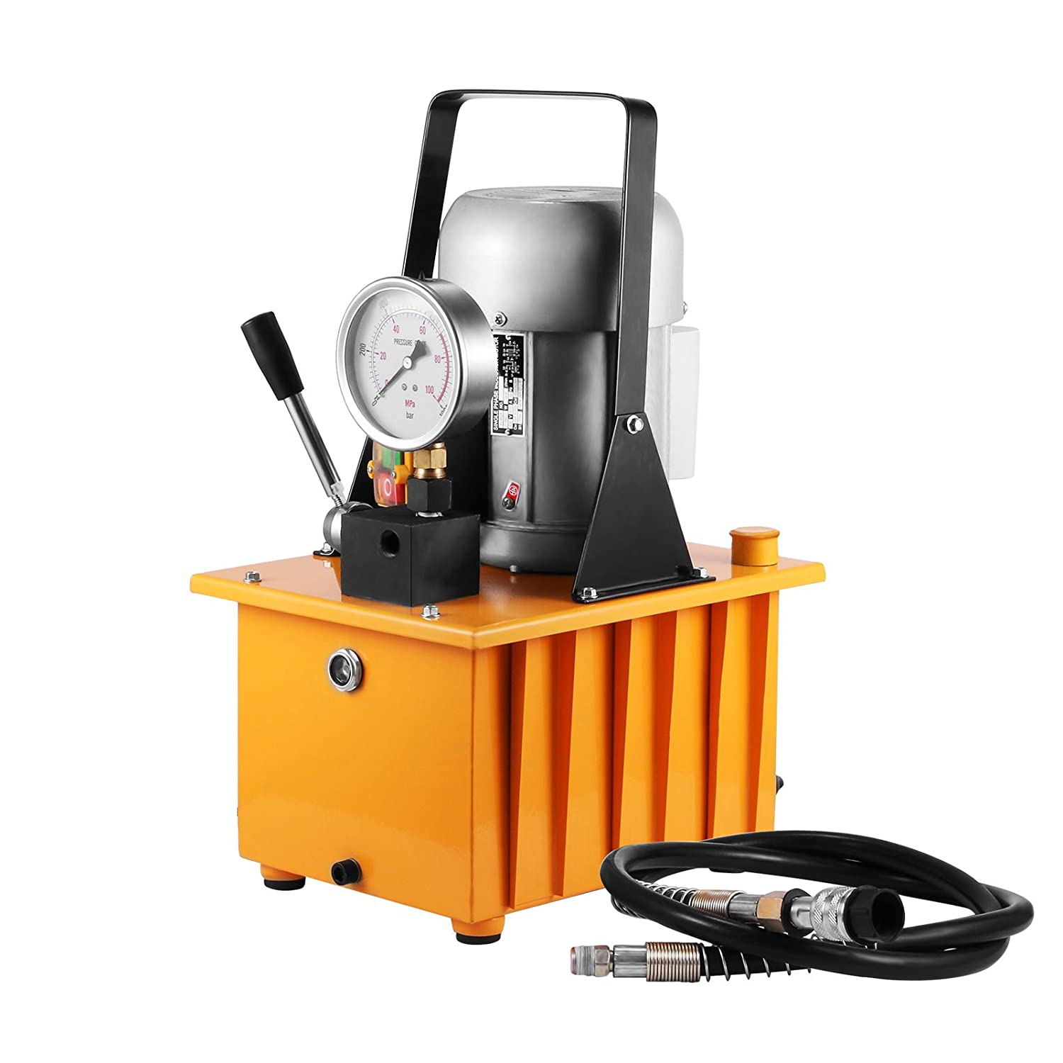 Amazon.com: Happybuy Hydraulic Pump Electric Single Acting Manual Valve  Hydraulic Pump 10000 PSI Electric Hydraulic Power Unit for Home and  Commercial Using ...